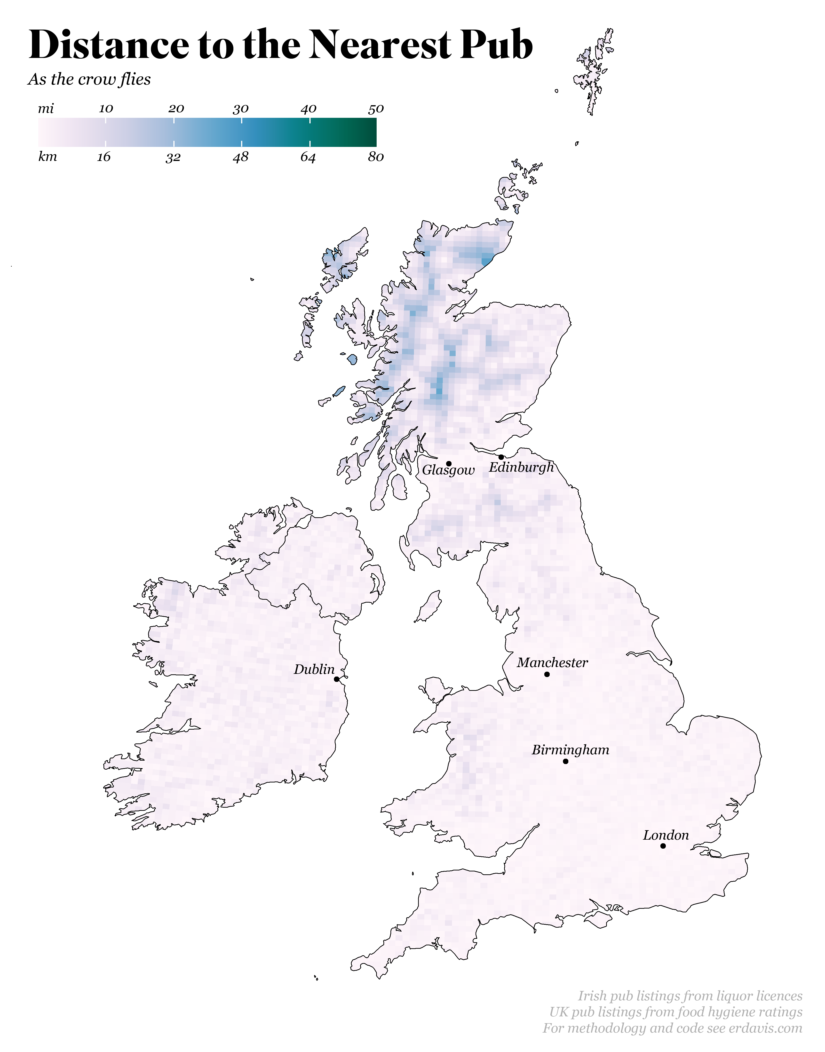 Distance to the Nearest Pub – Data Stuff
